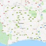 Ivoorkust landkaart
