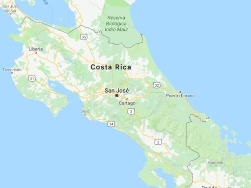 Costa rica kaart
