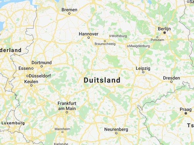 Landkaart Van Duitsland Vakantielanden Net