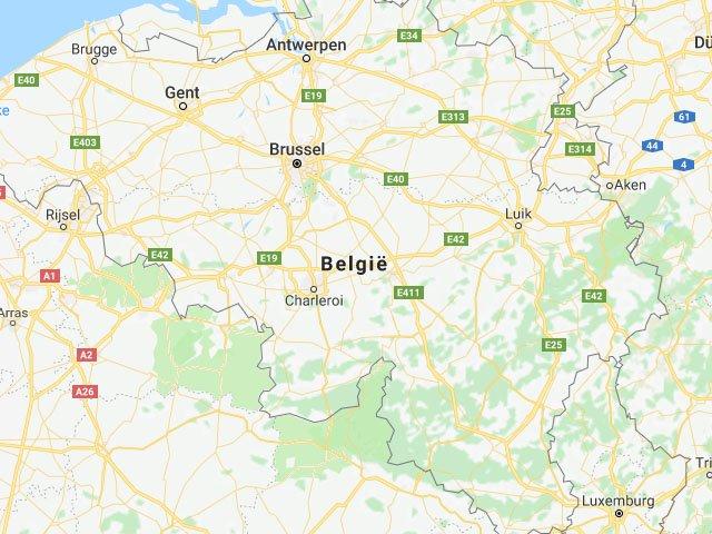 Belgie kaart