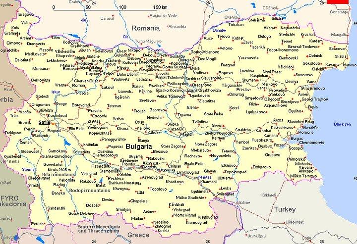 Bulgarije map