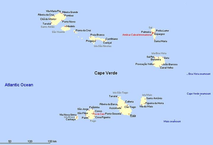 Landkaart Kaapverdie