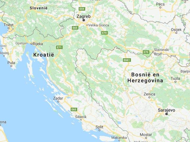 Kroatie map