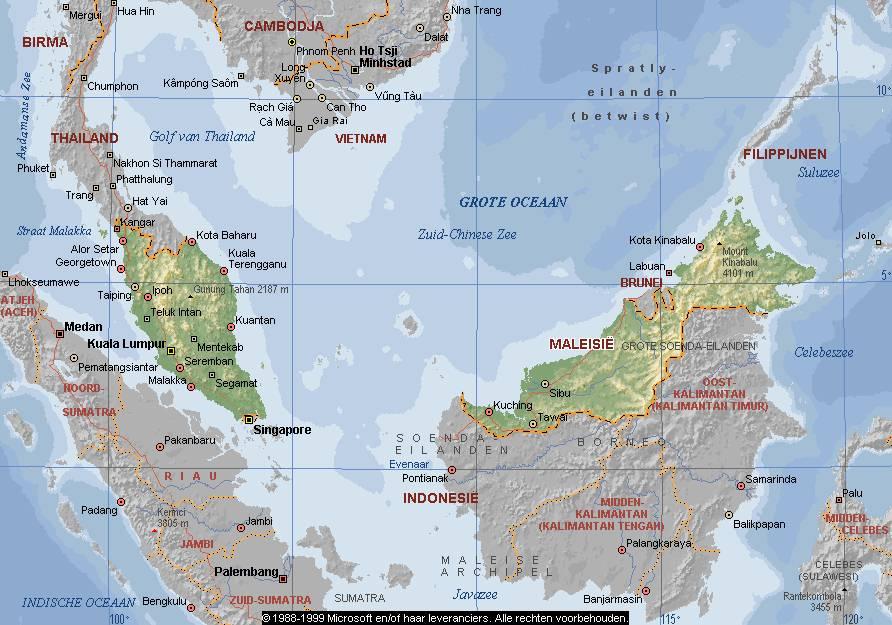 Landkaart Malesie