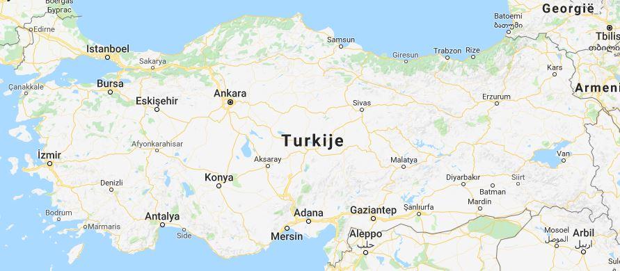 landkaart Turkije