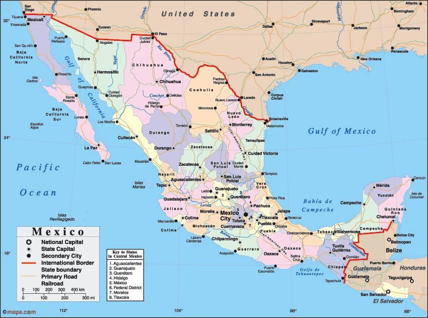 Mexico kaart