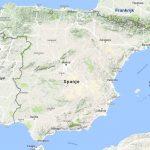 Kaart Spanje