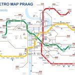 Metro map van Praag