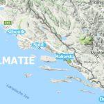 Kroatie Dalmatie map