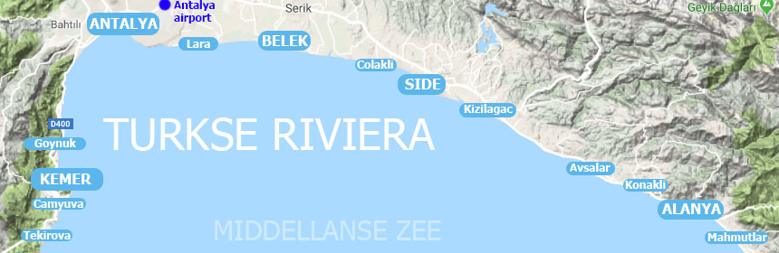 Turkse riviera map